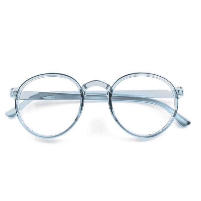 schlichte blaue Brille