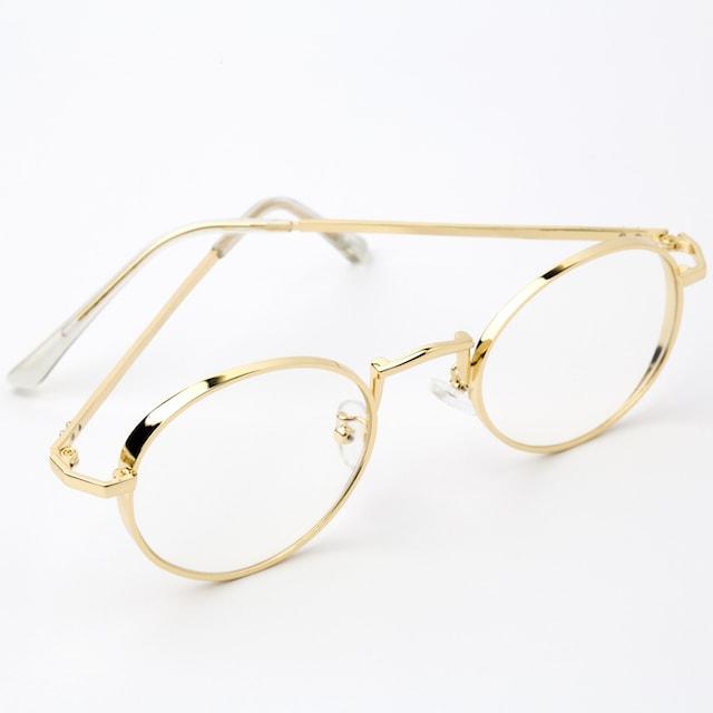 Schlichte goldene Brille